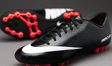 Бутсы Nike Mercurial Victory V AG 555608-010, Черный, найк меркуриал (Оригинал), фото 2