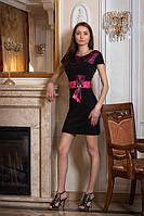 Платье женское мод 319,размер 46-48 с белой вставкой, фото 1