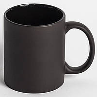 Чашка сублимационная Хамелеон FULL BLACK  матовая