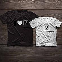 Парні футболки ручного розпису «I love U»