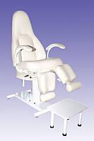 Педикюрно-косметологическое кресло КП-5 с регулируемыми пуфиками для ног, с подставкой для ванночки