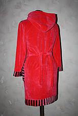 Велюровый халат с вставками, фото 3