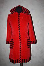 Велюровый халат с вставками, фото 2