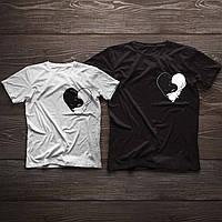 Парні футболочки ручного розпису «Коти»