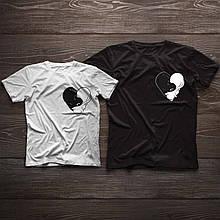 Парні футболки ручного розпису «Коти» для всієї сім'ї