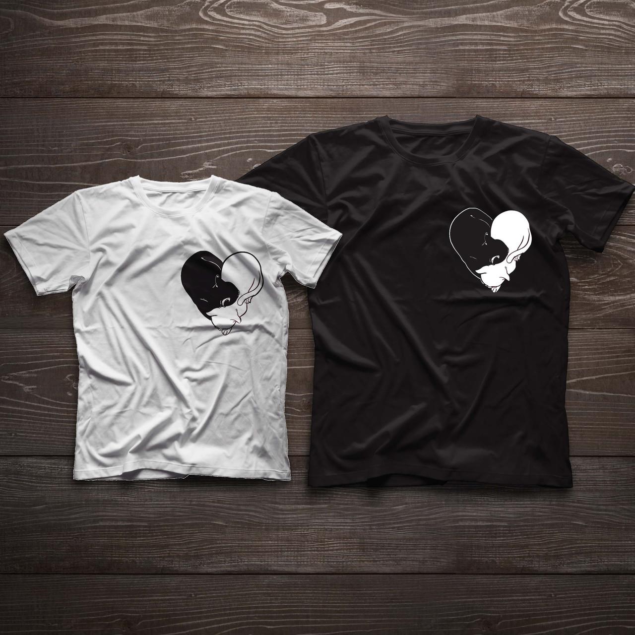 Парні футболочки ручного розпису «Коти» - Shoester - обувь,сумки и аксессуары из Польши. Прямой поставщик в Львове