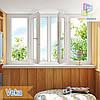 """Лоджия 3000x1450 Veka Euroline eco & Veka Softline Euro Киев """"Окна Маркет"""""""