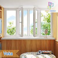 """Лоджия 3000x1450 Veka Euroline eco & Veka Softline Euro Киев """"Окна Маркет"""", фото 1"""