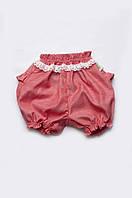 Детские шорты-панталоны с кружевом на девочку | от 9 мес до 2 лет, фото 1