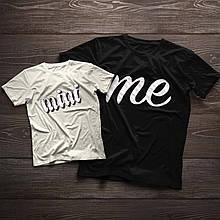 Парні футболочки ручного розпису «Mini Me»