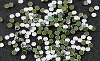 Стразы термоклеевые Стекло Серебро 4 мм (50 штук)