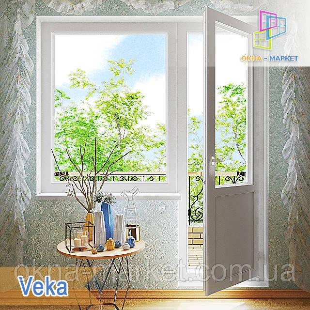 """Выход на балкон 1800x2100 Veka Euroline, Veka Softline в Киеве """"Окна Маркет"""""""