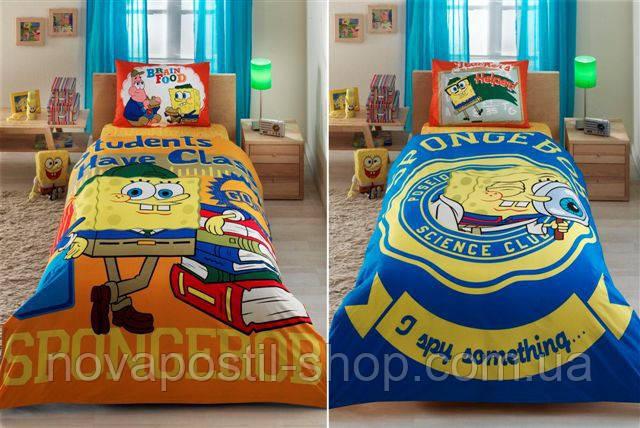 Комплект постельного белья TAC Disney Sponge Bob Students двусторонний