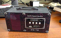 Портативная колонка WD 78 micro-SD, USB и FM