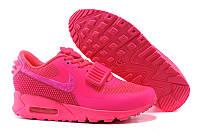 Женские кроссовки Nike Air Yeezy 2 sp Max 90 Pink