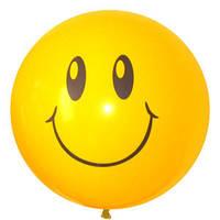 Качество! Латексные шарики 36 дюймов/91 см Декоратор (шелк.) 1 ст. рис Смайл 1шт
