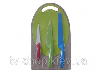 Набір ножів з дошкою Маруся з керам. покриттям