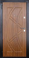 Входная металлическая дверь МДФ/МДФ Стандарт 97 (золотой орех) 860