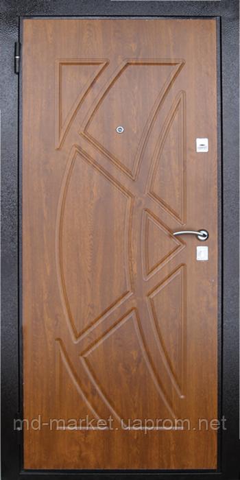 Входная металлическая дверь МДФ/МДФ Стандарт 97 (золотой орех) 860 - Первый Дверной в Днепре