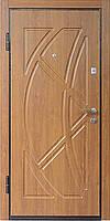 Входная металлическая дверь МДФ/МДФ Престиж 907 (золотой орех)