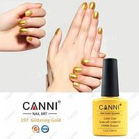 Гель-лак Canni 197, золото 7,3 мл