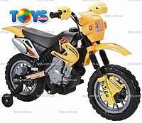 Электромобиль Детский Мотоцикл YJ137 Желтый