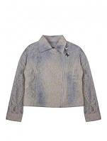 Нарядный пиджак гипюровый, выбитый рисунок, молния наискосок, бренд стильной одежды для детей Artigli,  Италия