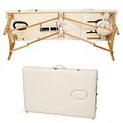 Масажний стіл дерев'яний 3-х сегментний складаний масажна кушетка для масажу, фото 9