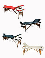 Массажный стол 3-х сегментный, кушетка деревянная, стол для массажа, фото 1