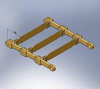 Тяговая двухрядная цепь для скребковых конвейеров.