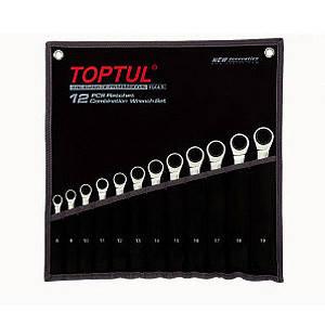 Набор ключей комбинированных трещоточных Toptul GPAQ1202 12 шт, фото 2
