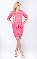 Платье женское трикотажное розовое
