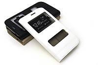 Кожаный чехол книжка для Samsung Galaxy Grand I9080 / I9082 белый
