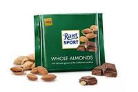 Шоколад Ritter Sport Whole Almonds 100г Риттер спорт молочный шоколад с цельным миндалем 100г