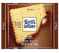 Шоколад Ritter Sport Knusperkeks 100г  Риттер спорт молочный с печеньем 100г