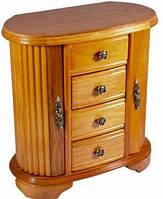 Красивый шкафчик для украшений King Wood 7391A ореховый