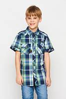 Детская рубашка на мальчиков в клетку glo-story