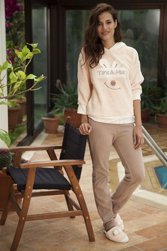 Жіноча флісова піжама із пухнастою піжамою та брюками HAYS 5052