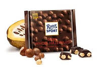 Шоколад Ritter Sport горький шоколад 100г Риттер спорт черный шоколад с цельным лесным орехом 100г