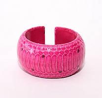Браслет из кожи Водной змеи 4 см 2978. WSBR 40 Pink