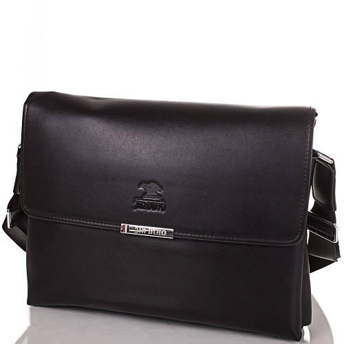 Красивая мужская сумка-почтальонка из качественного кожезаменителя JIN DIAO (ДЖИН ДИАО), SHI3373-3