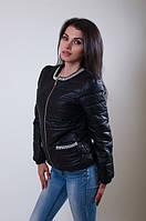 Курточка женская стеганая с украшением 8443