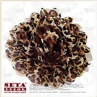 Брошь,заколка Леопардовый цветок (резинка на волосы) из ткани
