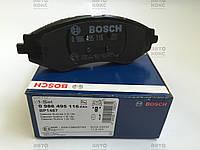Колодка тормозная передняя (4шт) Chevrolet Aveo 1.4 1.5 Lacetti 1.4-2.0 Nubira 1.4-2.0 Tacuma 1.6-2.0 Bosch, фото 1