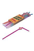 Коктейльные трубочки с грудью PVC Booby Drinking Straw 6pcs/box