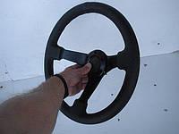Руль из кожи черного цвета №9828.