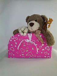 Сумочка  розовая и медвежонок