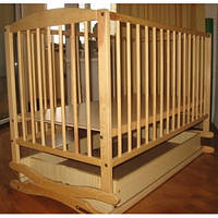 Детская кроватка Twins бук с ящиком и качалкой