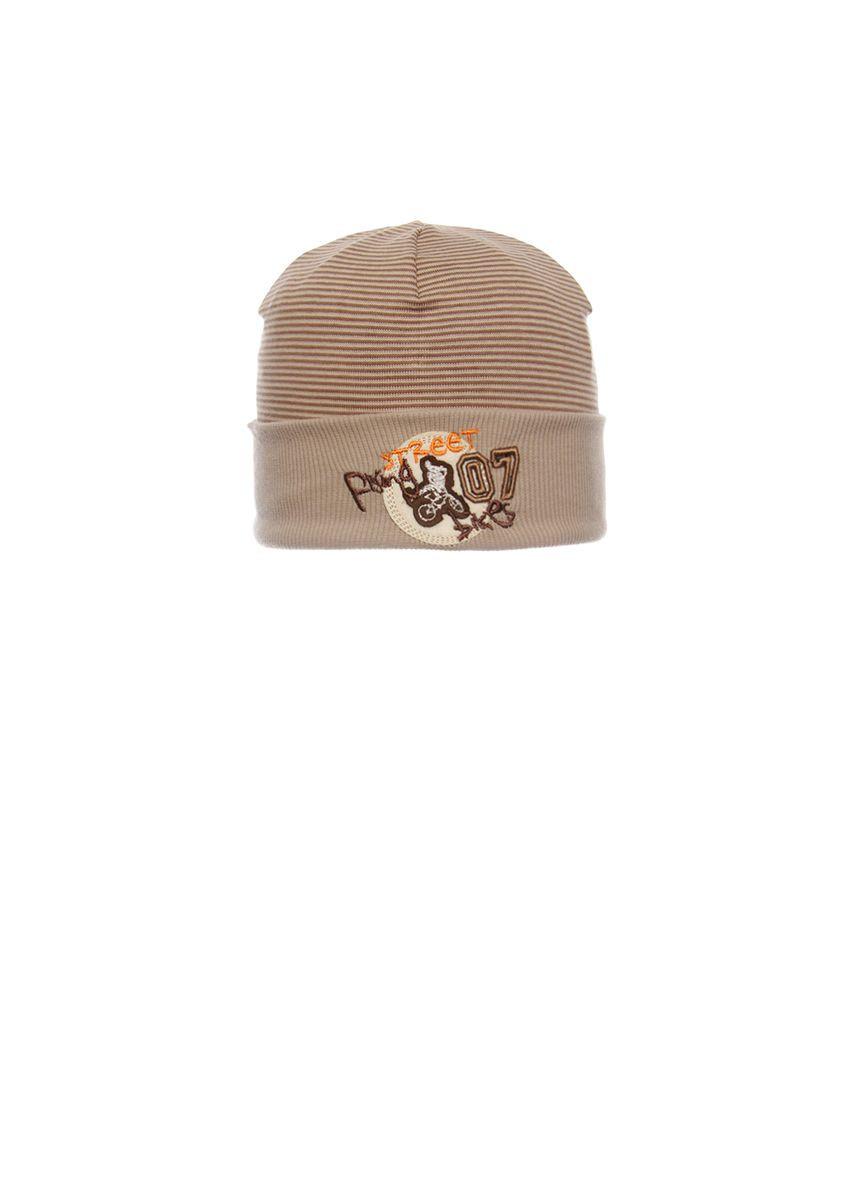 Красивая, одинарная, трикотажная шапка для мальчика
