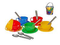 Посудка игрушечная Чайный сервиз в ведерке 0083